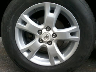 Wheel repair - after image