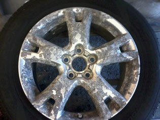 Wheel repair - before image